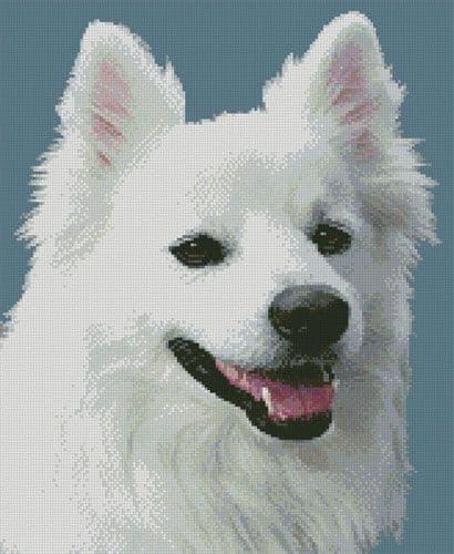 American Eskimo Dog 3 by Artecy printed cross stitch chart